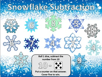 Snowflake Subtraction using Dice