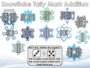 Snowflake Tally Marks worksheets