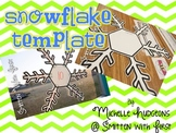 Snowflake Template {FREEBIE}