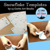 Snowflake Templates Art Project
