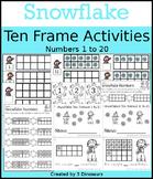 Snowflake Ten Frame Activities (1-20)