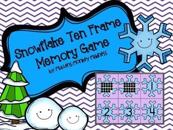Snowflake Ten Frame Memory!