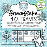 Snowflake Ten Frames (includes worksheet)