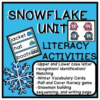 Snowflake Thematic Literacy Activities for Pre-k, Kindergarten, and Homeschool