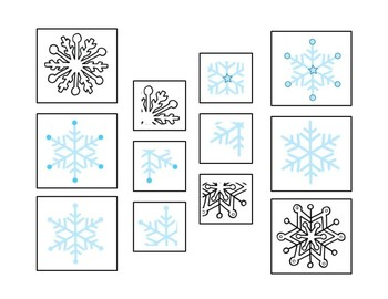Snowflake Theme Parts of the Whole Matching Activity