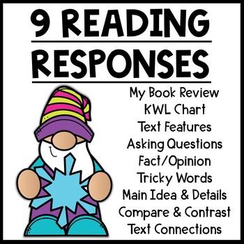 Snowflake Themed Nonfiction Reading Response Worksheets