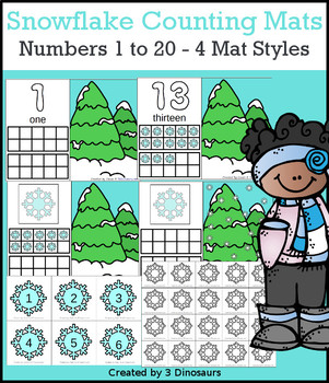 Snowflake Themed Number Counting Mats
