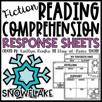 Snowflake Themed Reading Response Worksheets