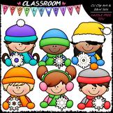 Snowflake Topper Kids - Clip Art & B&W Set