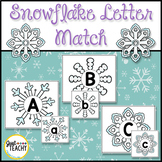 Snowflake Uppercase & Lowercase Letter Match