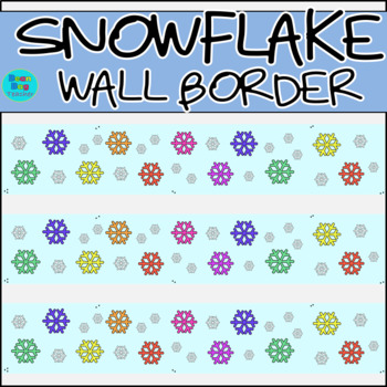 Snowflake Wall Border / Bulletin Board Display Border