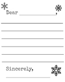 Snowflake Winter Letter Template Printable