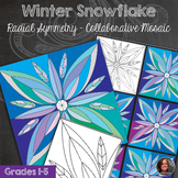 Snowflake Winter Mosaic - Radial Symmetry Mosaic - Winter Art Activity