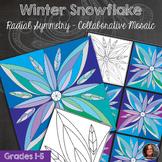 Snowflake Winter Mosaic - Radial Symmetry Mosaic - Winter Art Activity