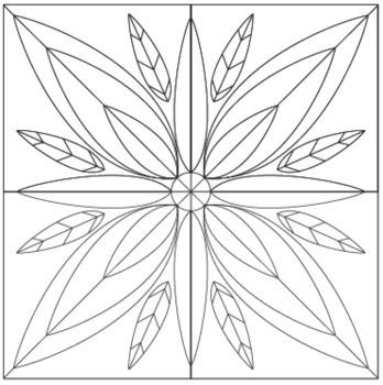 Snowflake Winter Mosaic Radial Symmetry Mosaic Winter