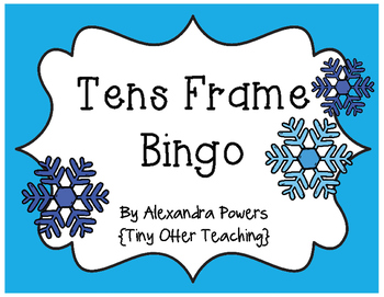 Snowflake / Winter Theme Tens Frame Bingo Game