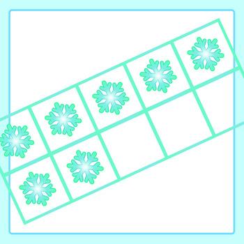Snowflake / Winter Themed 10 Frames / Ten Frames Clip Art for Commercial Use