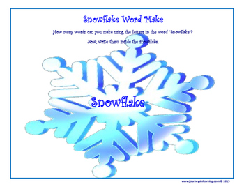 Snowflake Word Make!