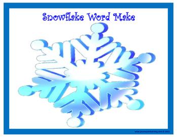 Snowflake Word Make!