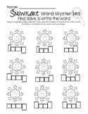 Snowflake Word Mysteries -  Read, Solve, & Write
