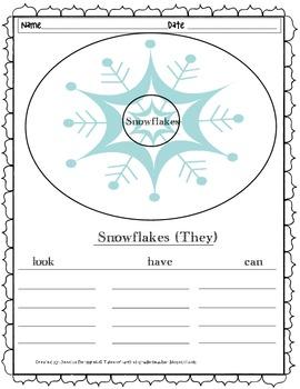 Snowflake Writing Freebie