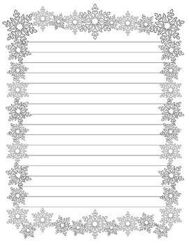Snowflake Writing Paper (Stationary)