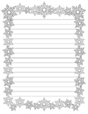 Snowflake Writing Paper (Stationary)