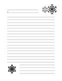 Snowflake Writing Paper Template