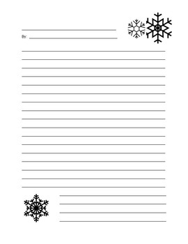 Snowflake Writing Paper Template