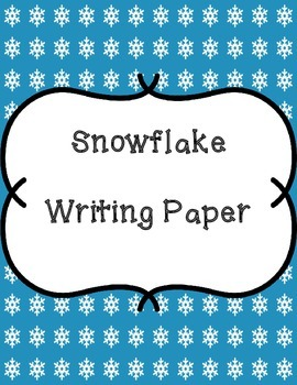 Snowflake Writing Papers