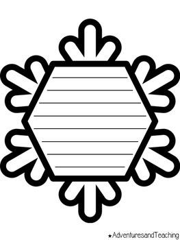 Snowflake Writing Prompts & Craftivity