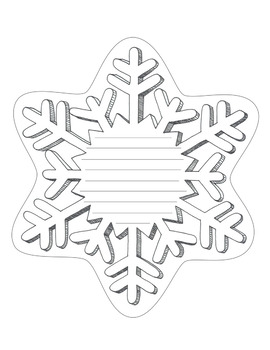 snowflake template writing  Snowflake Writing Template 7