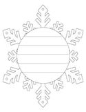 Snowflake and Snowman Shape Book Writing Frame