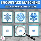 Snowflakes Winter Montessori Matching Activity
