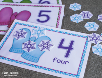 Snowflake math activities | snow math counting mats 0-20