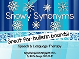 Snowflake snowy synonyms (great for bulletin boards) Speech Language Therapy