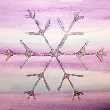 Snowflake templates for painting and pre-writing exercises