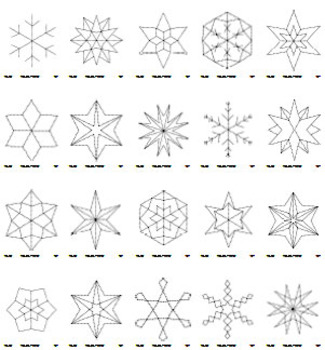 snowflake templates for painting and pre writing exercises by