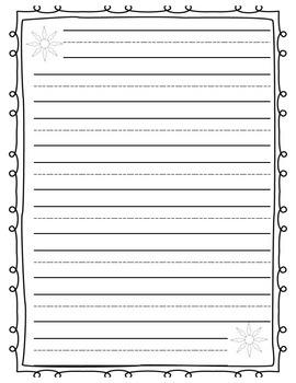 Snowflake writing page