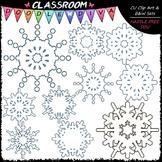 Snowflakes Clip Art - Winter Clip Art