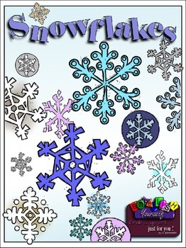 Snowflakes Clipart (5 FREE Elements Included) Embellish Yo