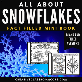 Snowflakes Unit Mini Booklet