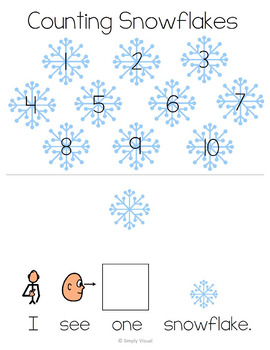 Snowflakes Adapted Counting Book 1 to 10