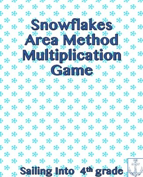 Snowflakes Area Model Multiplication Game