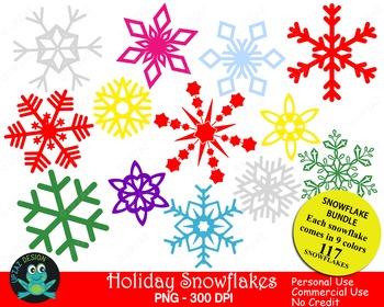 Snowflakes BUNDLE Special {Upzaz Digital Clipart}