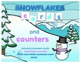 Snowflakes Cards & Counters : A COUNTING WORK