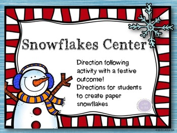 Snowflakes Center Direction Following FREEBIE