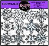 Snowflakes Clip Art Bundle {Educlips Clipart}