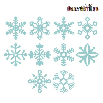 Snowflakes Clip Art - Great for Art Class Projects!