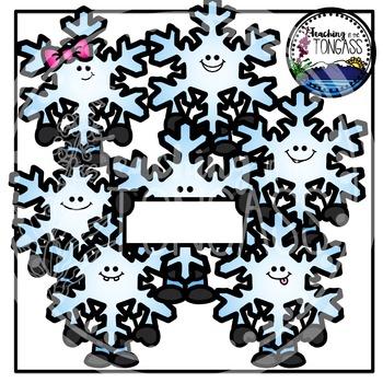 Snowflakes Clipart Bundle